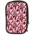 Pink Curl Custom Compact Camera Leather Case