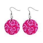 Pink Dream Custom 1  Button Earrings