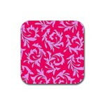 Pink Dream Custom Rubber Square Coaster (4 pack)
