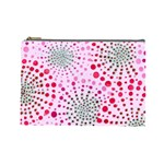 Pink Fireworks Custom Cosmetic Bag (Large)