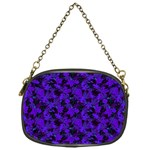 Purple Floral Custom Chain Purse (One Side)