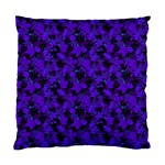 Purple Floral Custom Cushion Case (Two Sides)