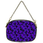 Purple Floral Custom Chain Purse (Two Sides)