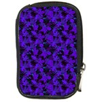 Purple Floral Custom Compact Camera Leather Case