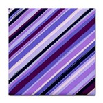 Purple Candy Cane Custom Tile Coaster