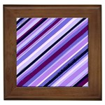 Purple Candy Cane Custom Framed Tile