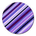 Purple Candy Cane Custom Round Mousepad