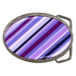 Purple Candy Cane Custom Belt Buckle