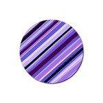 Purple Candy Cane Custom Rubber Round Coaster (4 pack)