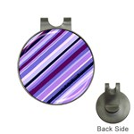 Purple Candy Cane Custom Golf Ball Marker Hat Clip