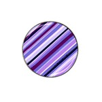 Purple Candy Cane Custom Hat Clip Ball Marker (10 pack)