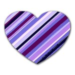 Purple Candy Cane Custom Mousepad (Heart)