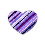 Purple Candy Cane Custom Heart Coaster (4 pack)