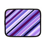 Purple Candy Cane Custom Netbook Case (Small)