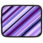 Purple Candy Cane Custom Netbook Case (Large)