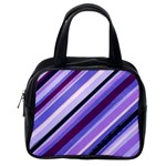 Purple Candy Cane Custom Classic Handbag (One Side)