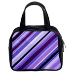 Purple Candy Cane Custom Classic Handbag (Two Sides)