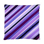 Purple Candy Cane Custom Cushion Case (One Side)