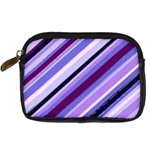 Purple Candy Cane Custom Digital Camera Leather Case