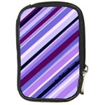 Purple Candy Cane Custom Compact Camera Leather Case