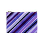 Purple Candy Cane Custom Cosmetic Bag (Medium)