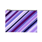Purple Candy Cane Custom Cosmetic Bag (Large)