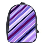 Purple Candy Cane Custom School Bag (Large)