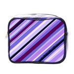 Purple Candy Cane Custom Mini Toiletries Bag (One Side)