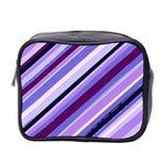 Purple Candy Cane Custom Mini Toiletries Bag (Two Sides)