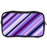 Purple Candy Cane Custom Toiletries Bag (Two Sides)