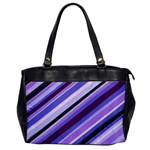 Purple Candy Cane Custom Oversize Office Handbag (One Side)
