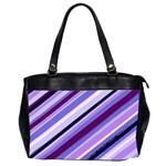 Purple Candy Cane Custom Oversize Office Handbag (Two Sides)