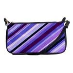 Purple Candy Cane Custom Shoulder Clutch Bag