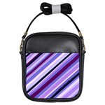 Purple Candy Cane Custom Girls Sling Bag