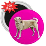BP Yellow Labrador Retriever Dog Gifts 3  Magnet (100 pack)