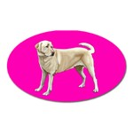 BP Yellow Labrador Retriever Dog Gifts Magnet (Oval)