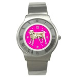 BP Yellow Labrador Retriever Dog Gifts Stainless Steel Watch