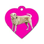 BP Yellow Labrador Retriever Dog Gifts Dog Tag Heart (Two Sides)