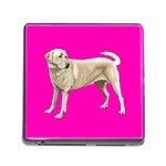 BP Yellow Labrador Retriever Dog Gifts Memory Card Reader with Storage (Square)