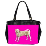 BP Yellow Labrador Retriever Dog Gifts Oversize Office Handbag (Two Sides)