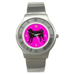 BP Black Labrador Retriever Dog Gifts Stainless Steel Watch