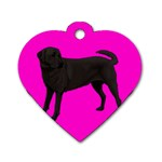 BP Black Labrador Retriever Dog Gifts Dog Tag Heart (Two Sides)