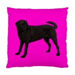 BP Black Labrador Retriever Dog Gifts Cushion Case (Two Sides)