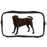 BW Chocolate Labrador Retriever Dog Gifts Toiletries Bag (Two Sides)