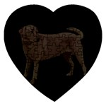 BB Chocolate Labrador Retriever Dog Gifts Jigsaw Puzzle (Heart)