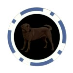 BB Chocolate Labrador Retriever Dog Gifts Poker Chip Card Guard (10 pack)