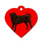 Chocolate Labrador Retriever Dog Gifts BR Dog Tag Heart (Two Sides)
