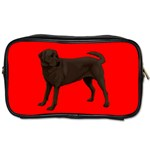 Chocolate Labrador Retriever Dog Gifts BR Toiletries Bag (Two Sides)