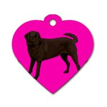 Chocolate Labrador Retriever Dog Gifts BP Dog Tag Heart (Two Sides)