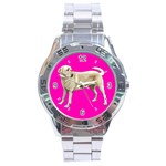 Yellow Labrador Retriever Stainless Steel Analogue Men's Watch